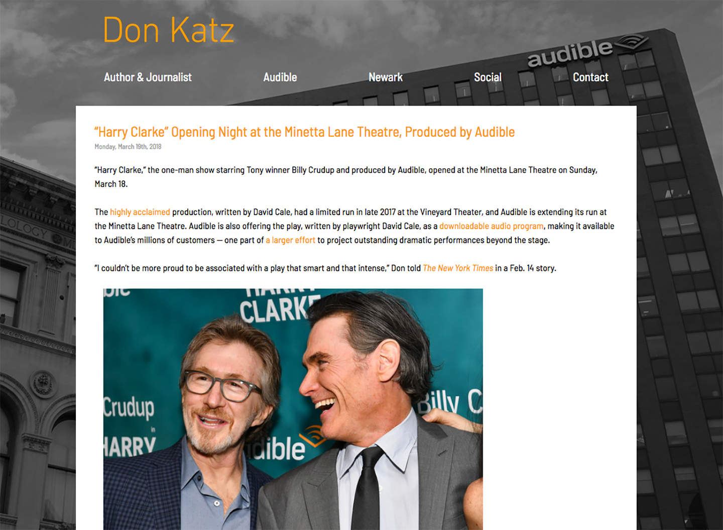 Donald Katz: Home page and News Feed