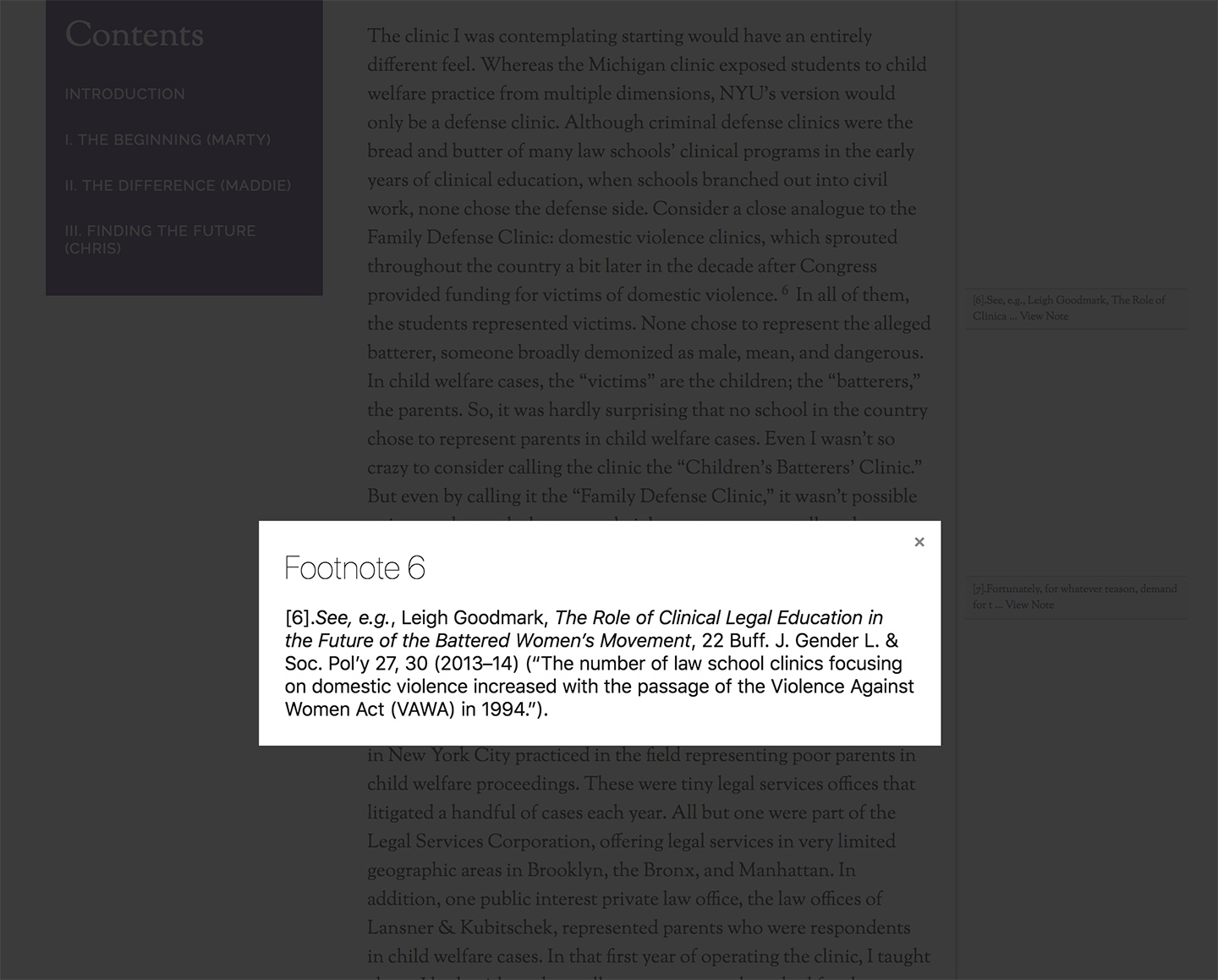 NYU: Review of Law and Social Change: Footnotes Lightbox Popup