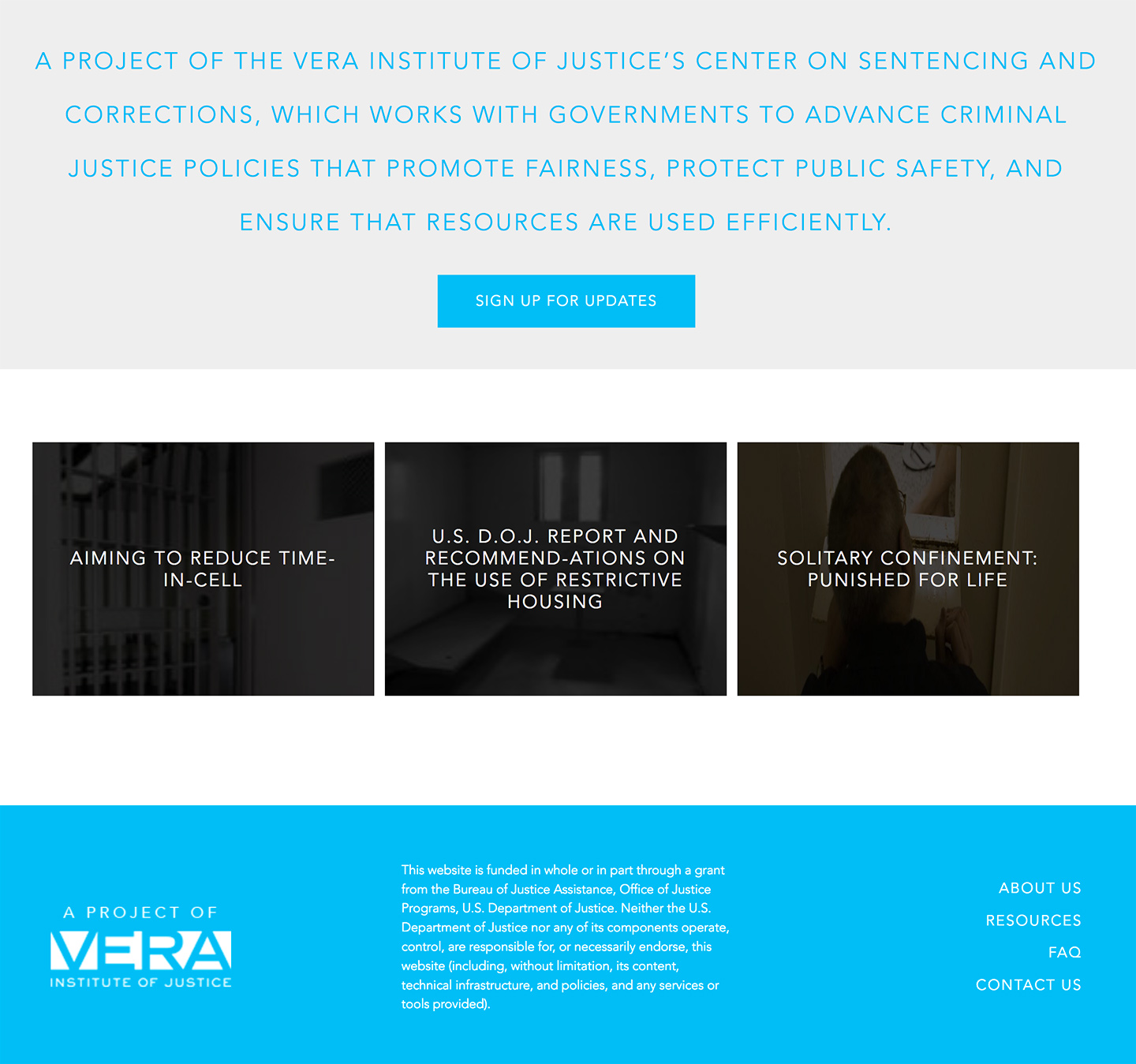 Vera Institute of Justice | Safe Alternatives to Segregation Resource Center: Featured Content and Resources