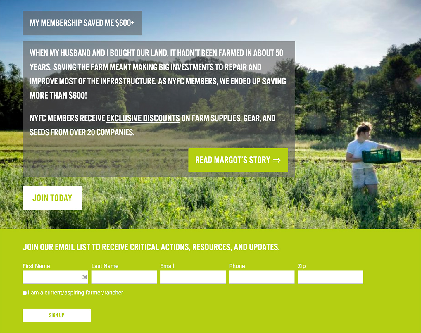 National Young Farmers Coalition: NYFC Homepage Features