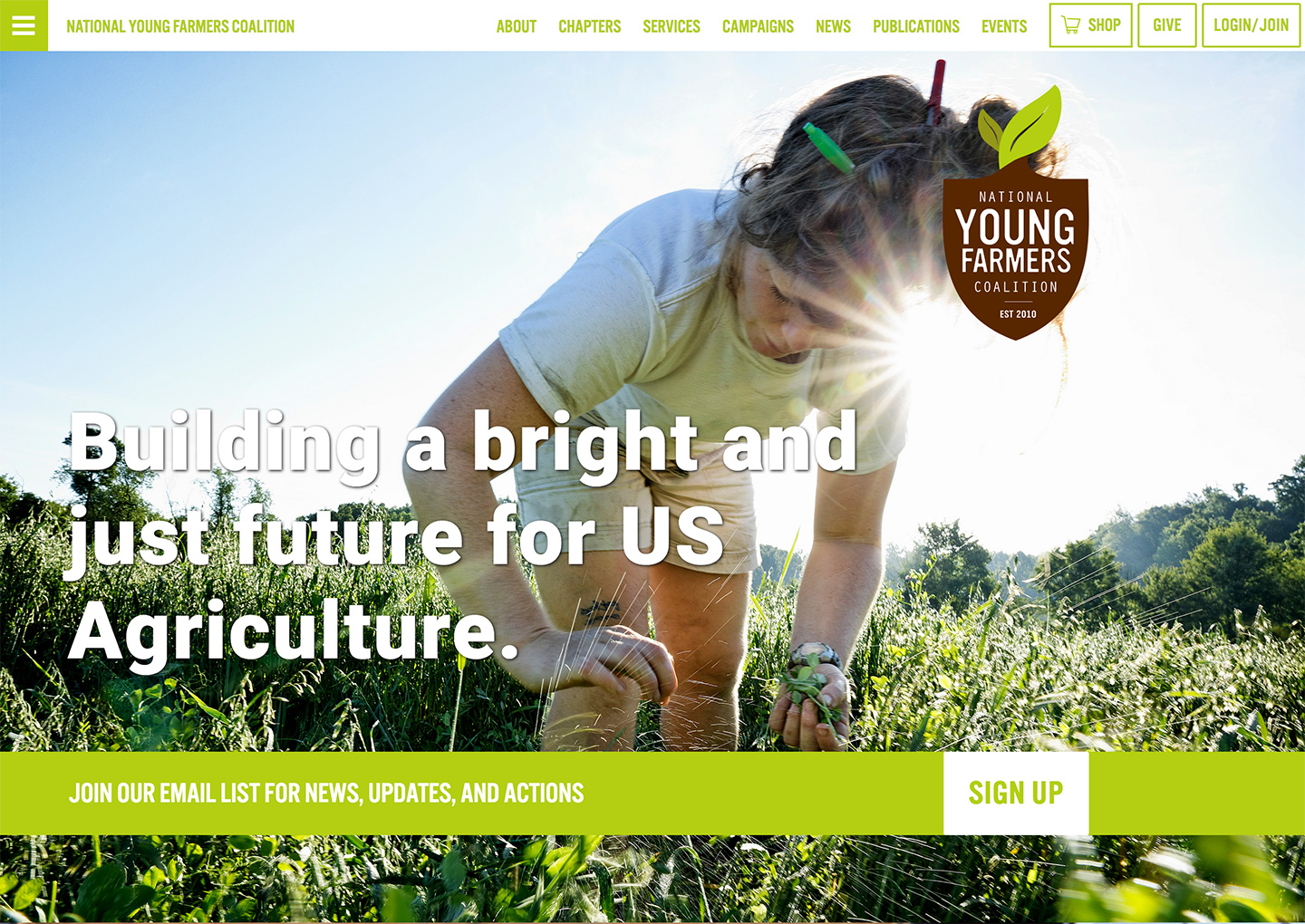 Online Agriculture Advocacy with the National Young Farmers Coalition