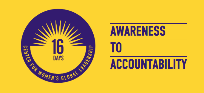 Center for Women's Global Leadership at Rutger's University: 16 Days Campaign Logo
