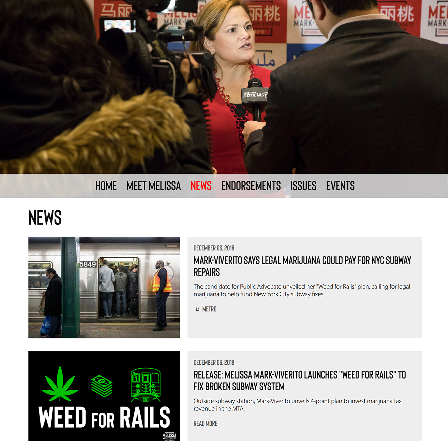 Melissa Mark-Viverito for Public Advocate: Automated News Feed
