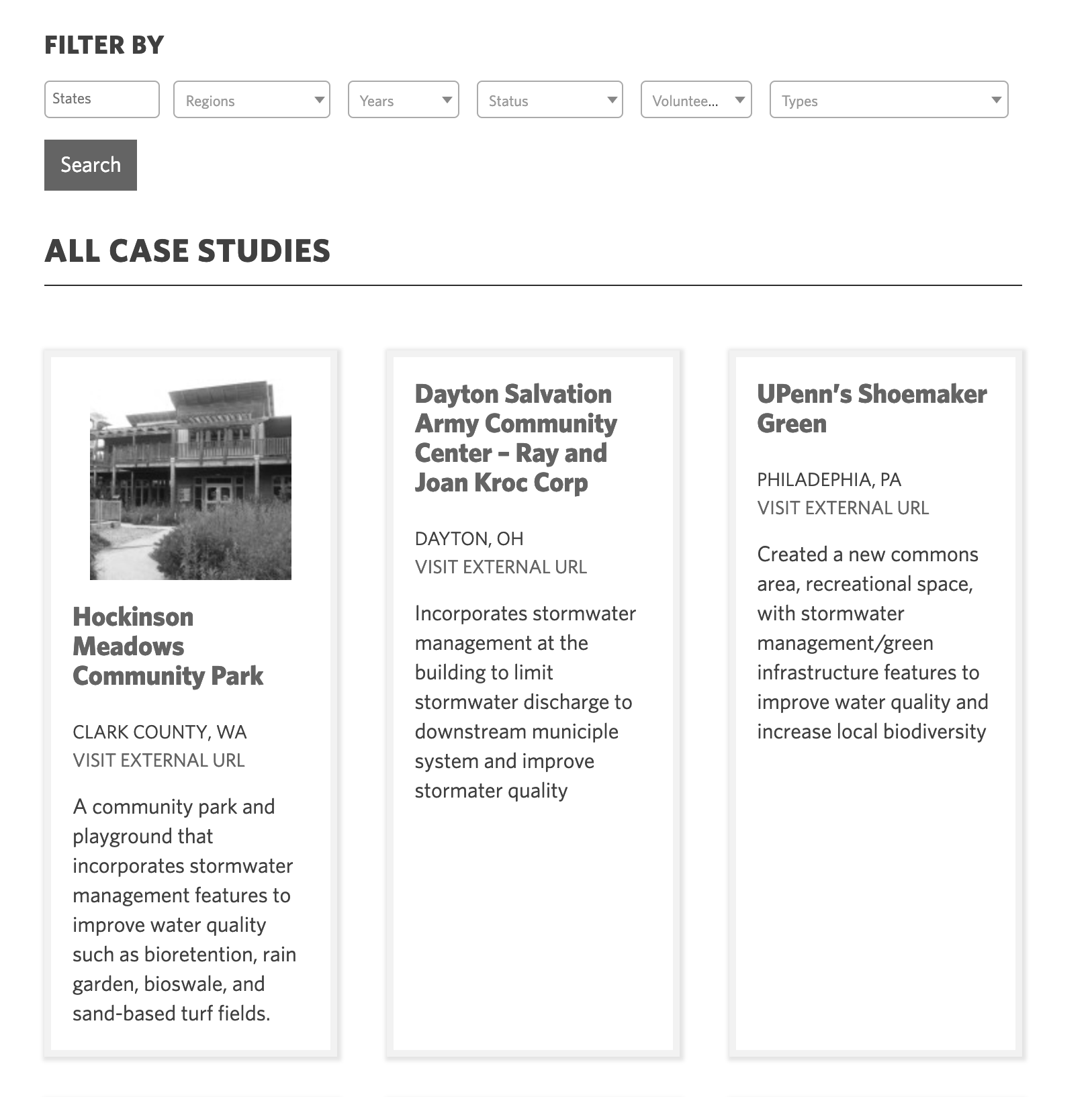 Princeton University: Water Reuse Sustainable Communities UX and UI Consulting: case-studies-resource-library-advanced-search