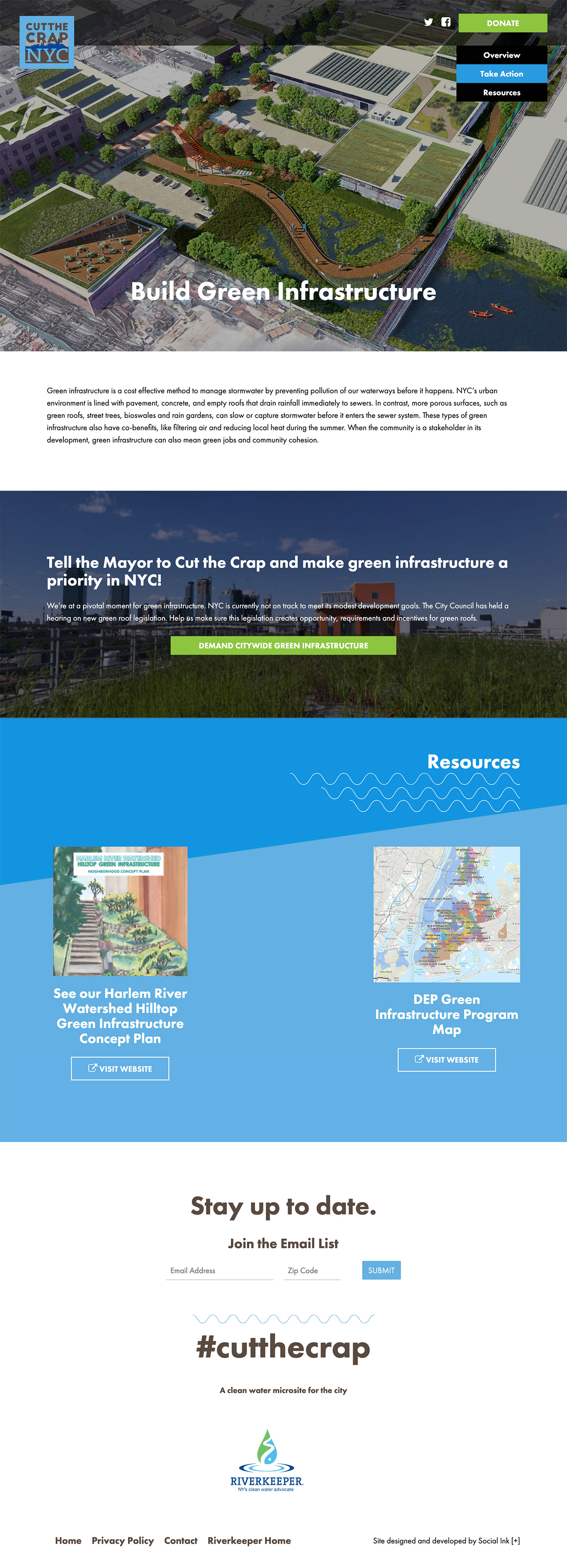 Cut the Crap NYC: Cut the Crap: Green Infrastructure Campaign