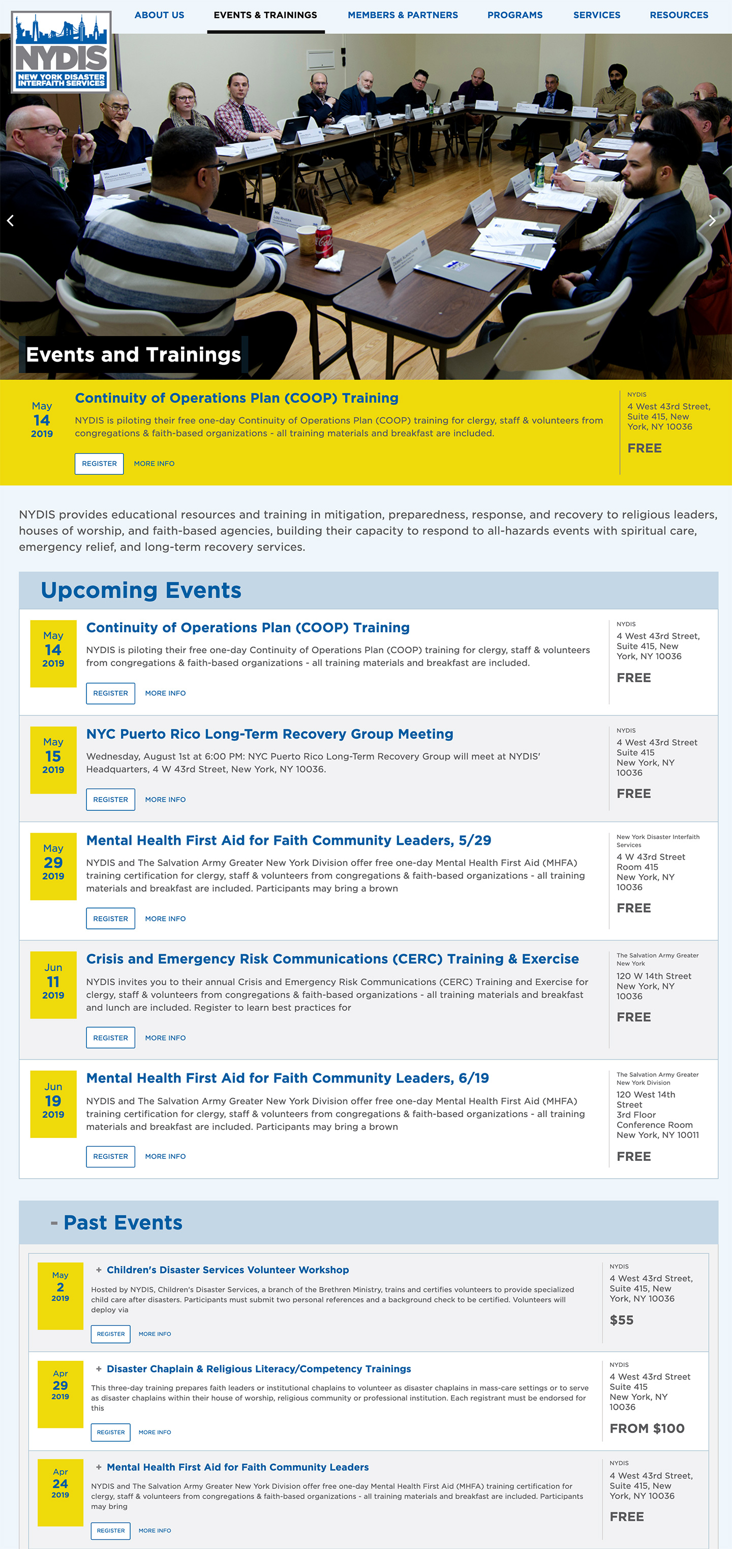NYDIS: New York Disaster Interfaith Services: Automated Events Archive syncs with Eventbrite