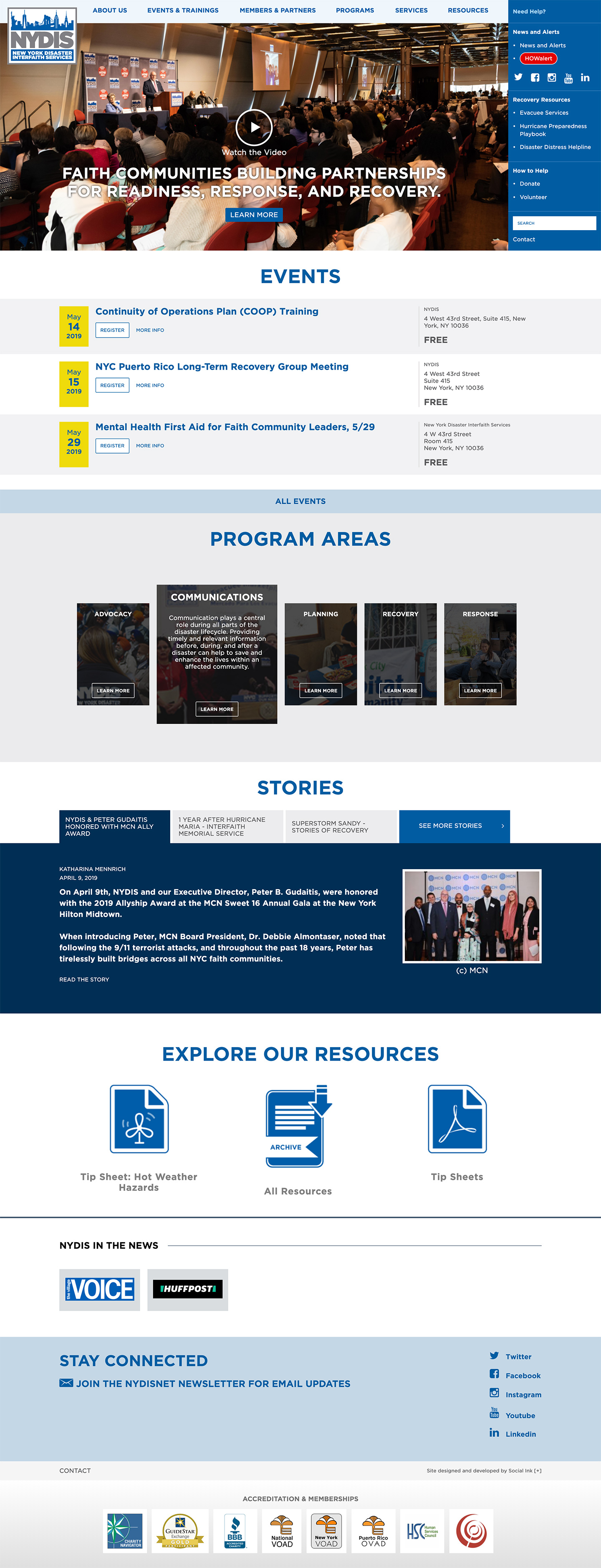 NYDIS: New York Disaster Interfaith Services: NYDIS Homepage
