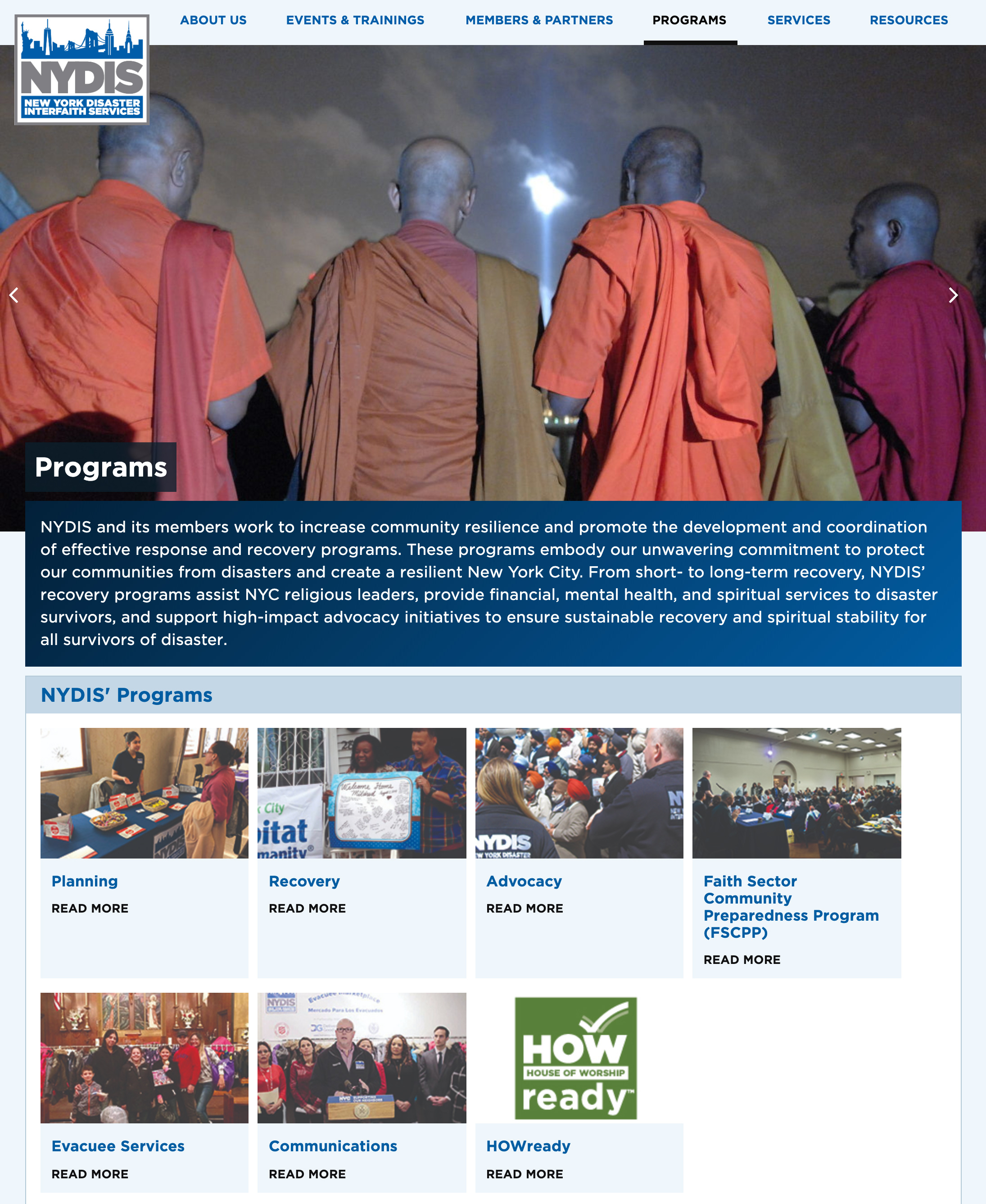 NYDIS: New York Disaster Interfaith Services: Programs Overview