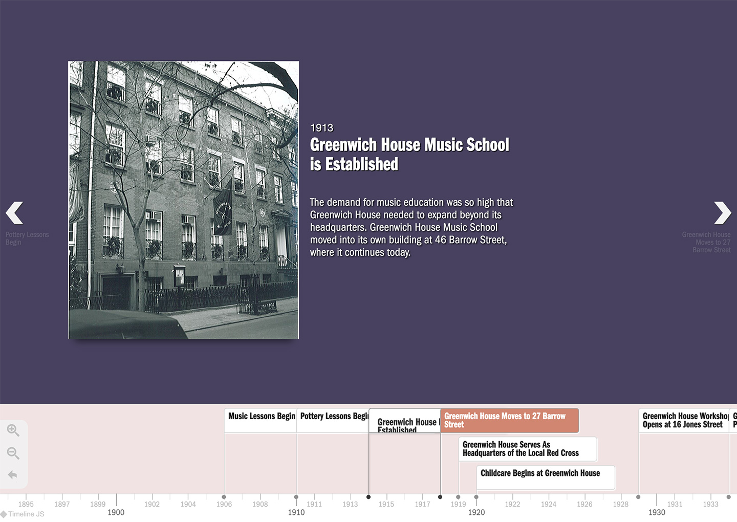 Greenwich House: Greenwich House: Interactive Historical Timeline