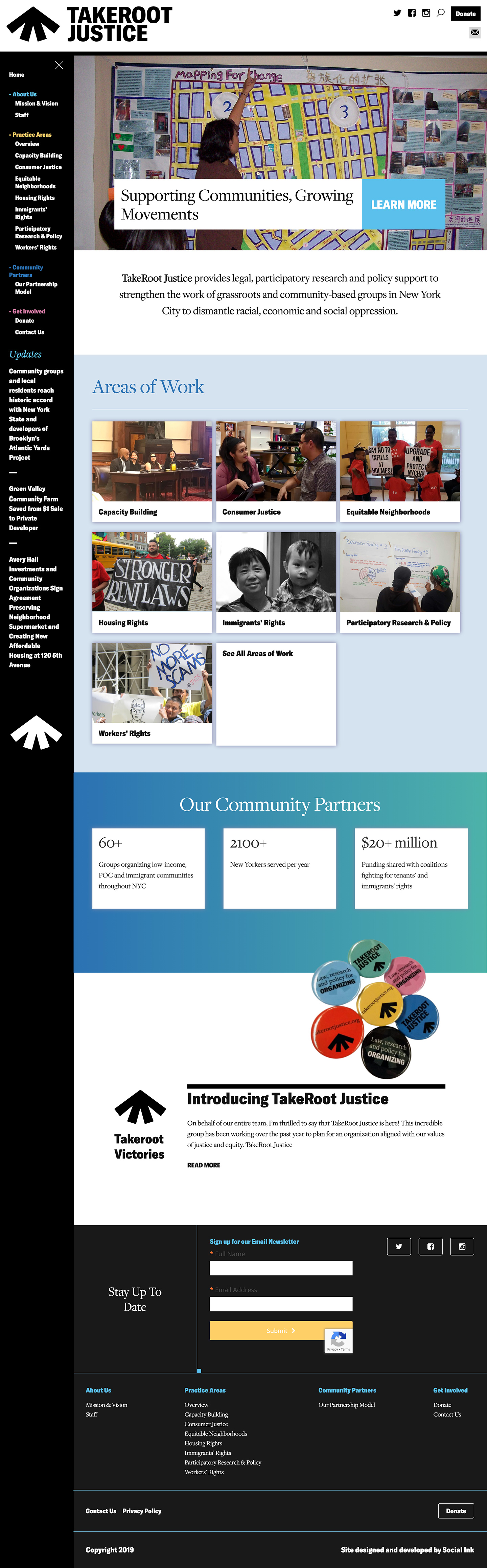 TakeRoot Justice: A New Organization springs forth from roots at the Urban Justice Center: TakeRoot Justice Homepage