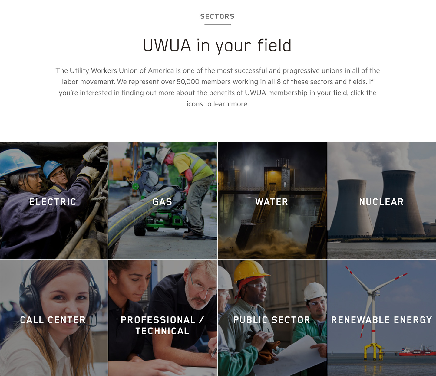 Utility Workers Union of America (UWUA): UWUA Utility Workers Union of America - Grid Overview