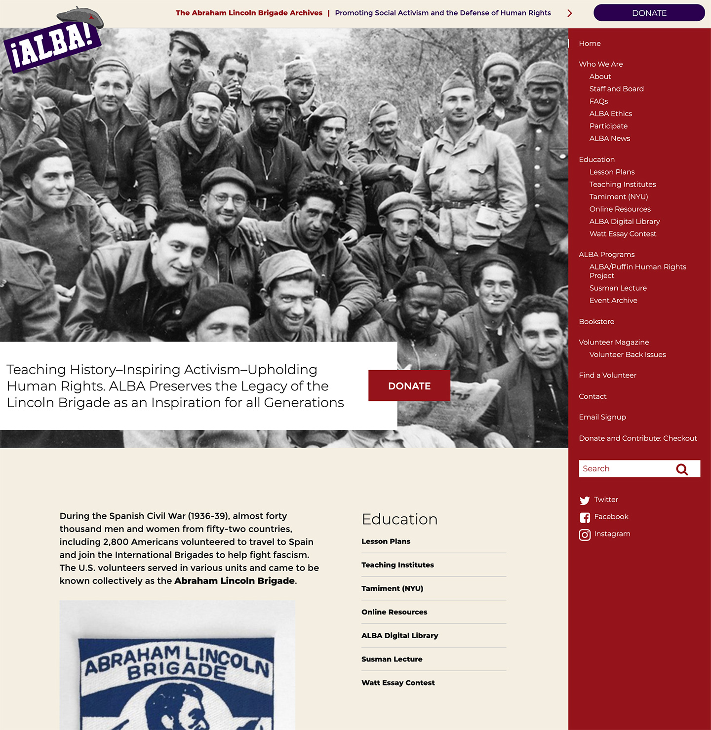The Abraham Lincoln Brigade Archives (ALBA)