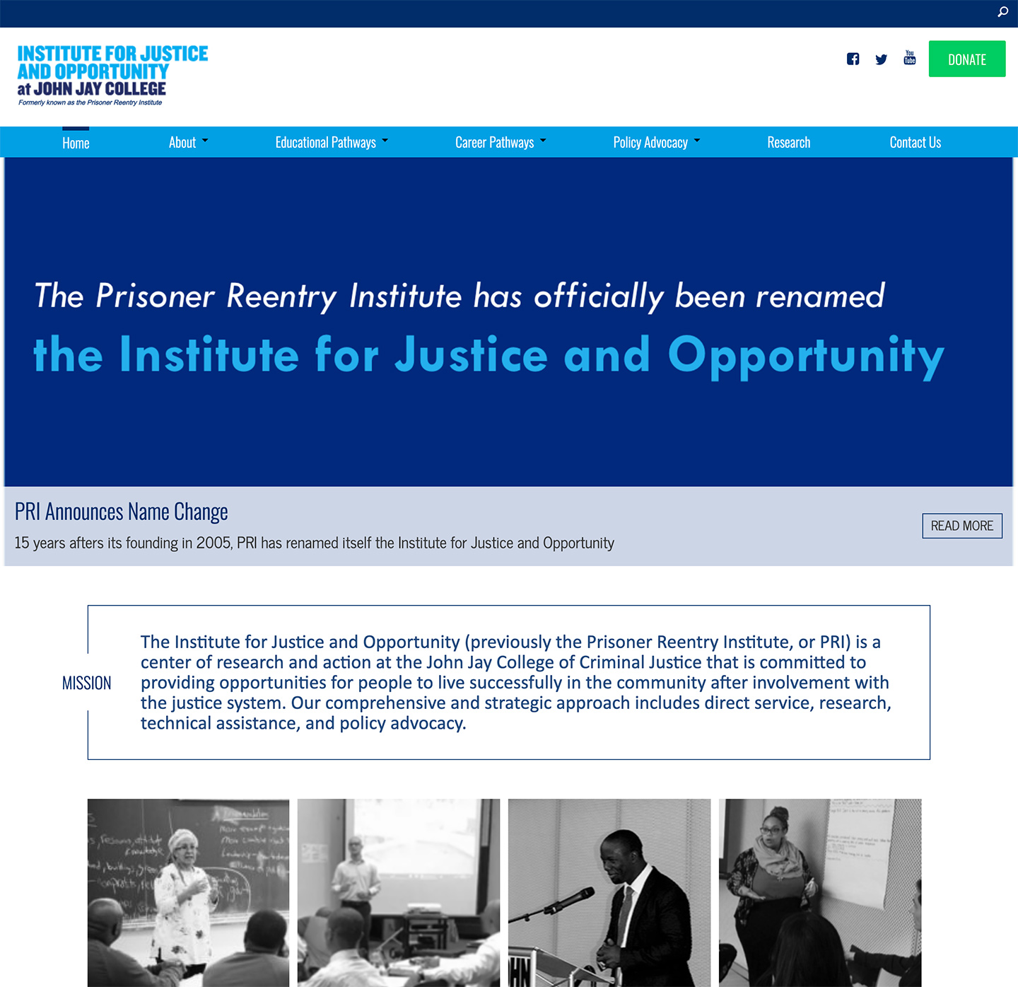 Institute for Justice and Opportunity (CUNY John Jay): John Jay Institute for Justice and Opportunity: Home