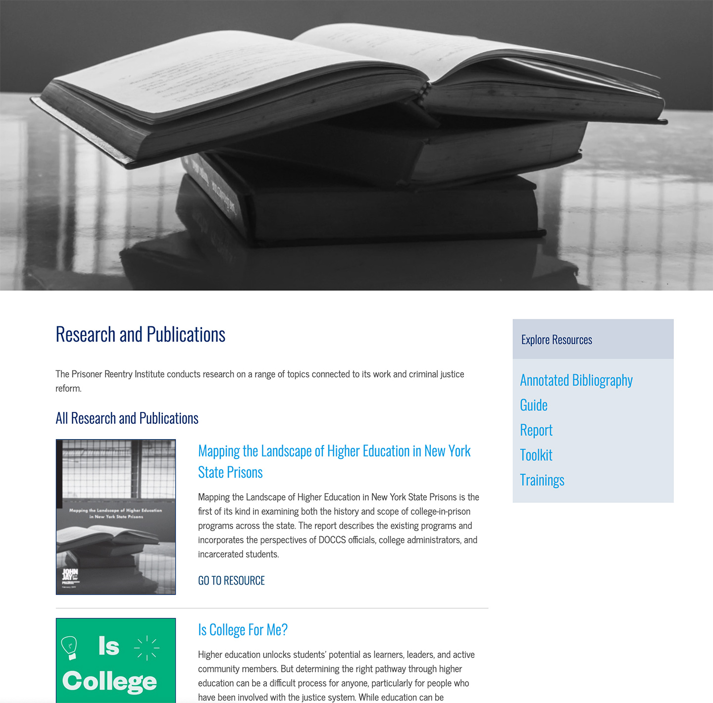 Institute for Justice and Opportunity (CUNY John Jay): John Jay Institute for Justice and Opportunity: Publications and Research