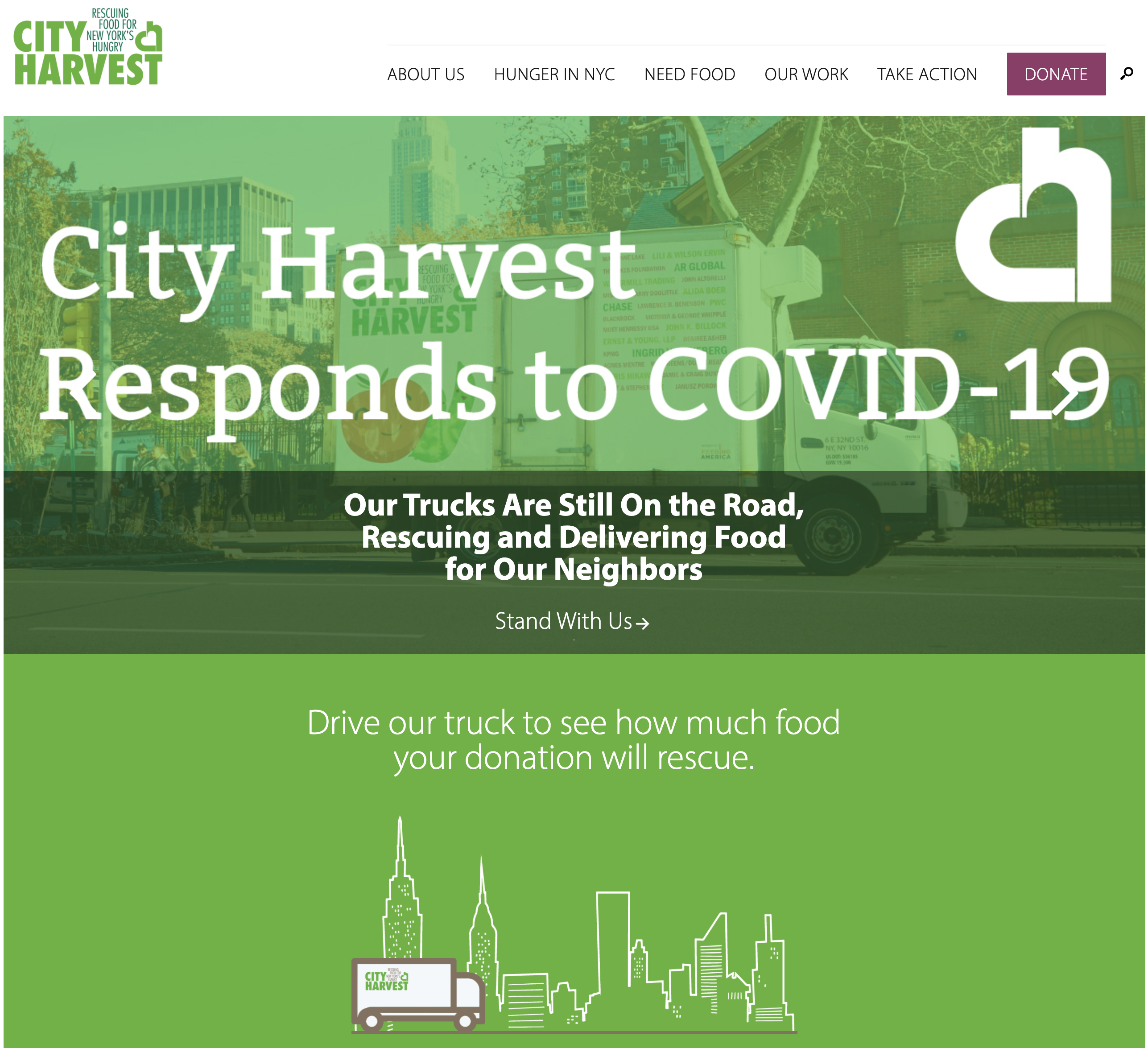 COVID-19 Relief: Helping City Harvest, NACTO, NYDIS, HPAE, and more
