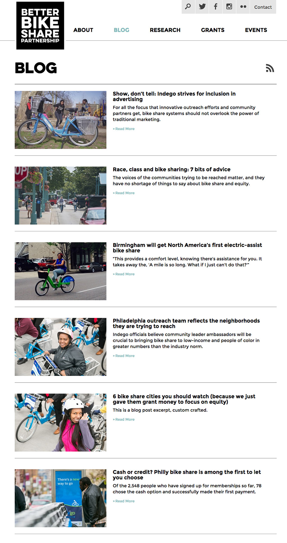 Better Bike Share Partnership: Better Bike Share Blog Platform