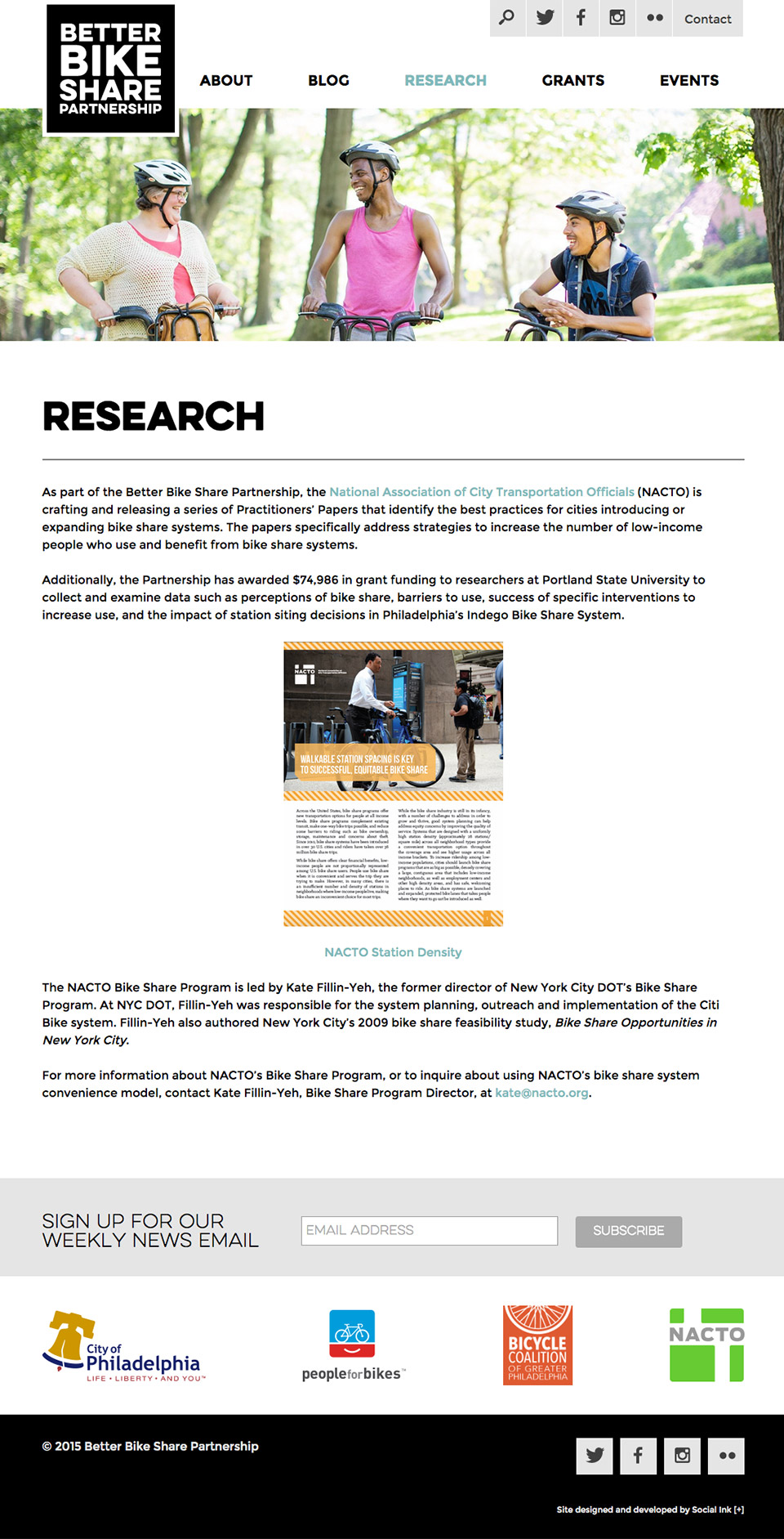 Better Bike Share Partnership: Research Publications