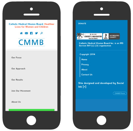 Catholic Medical Mission Board: Mobile Responsive Design (RWD)