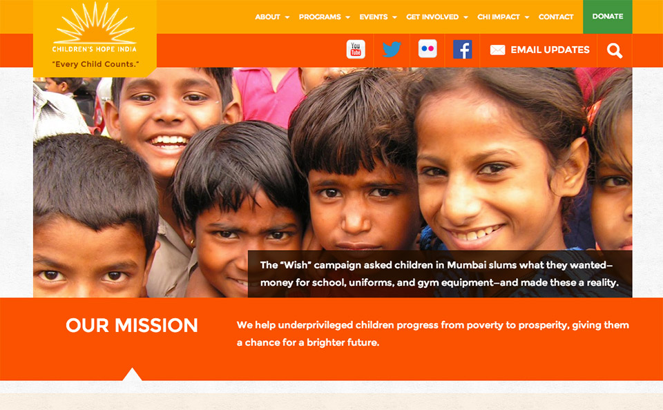 Children's Hope India Home Page