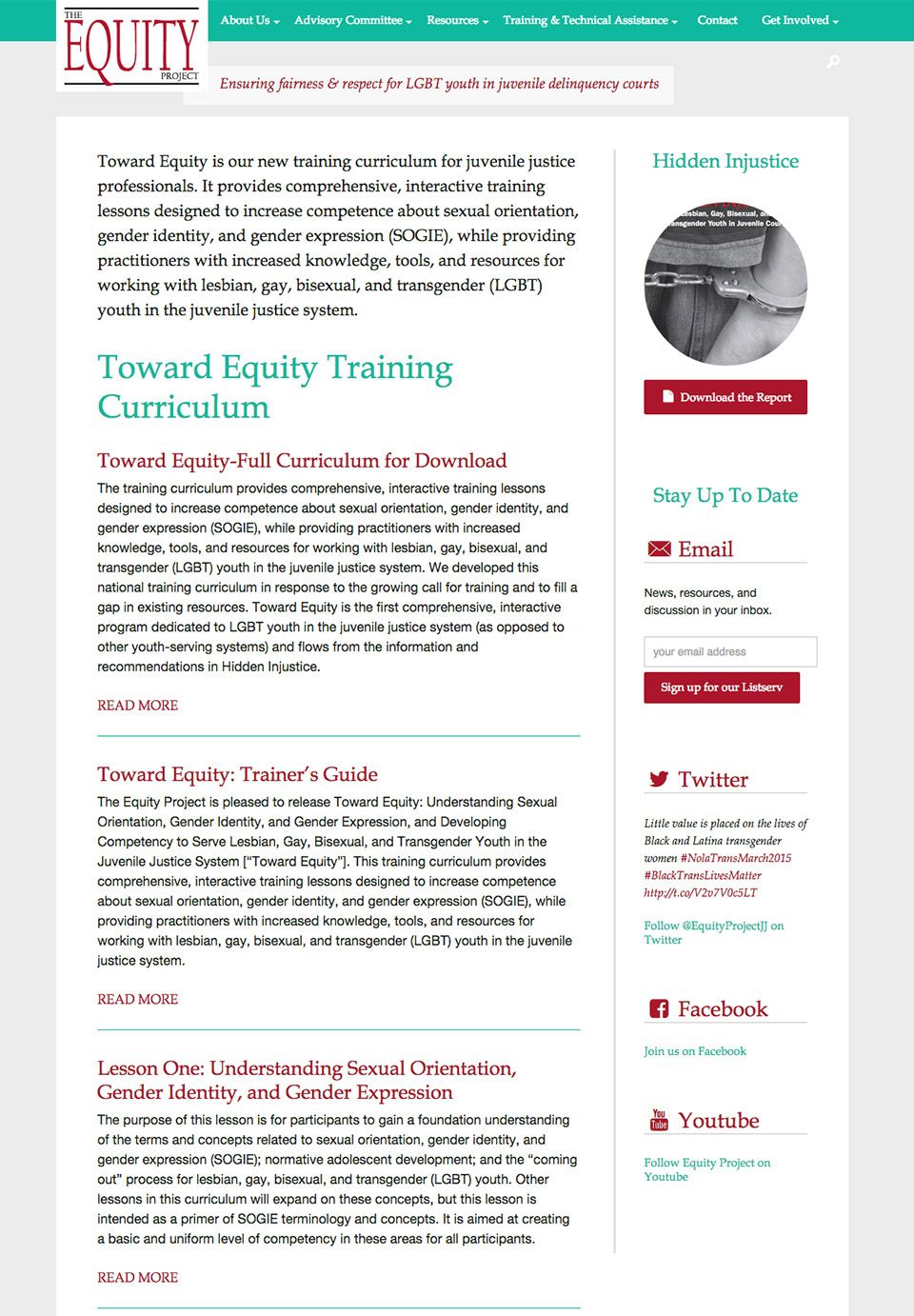 The Equity Project: Training Materials