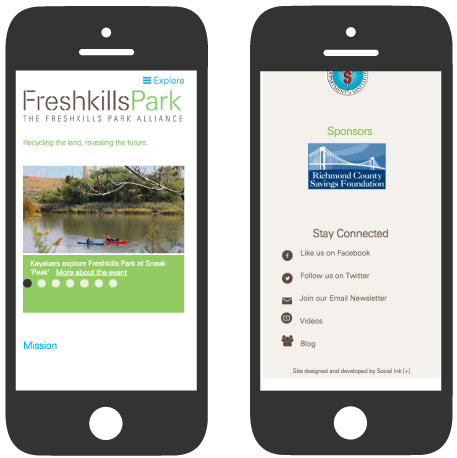 Freshkills Park Alliance: Mobile Responsive Design (RWD)