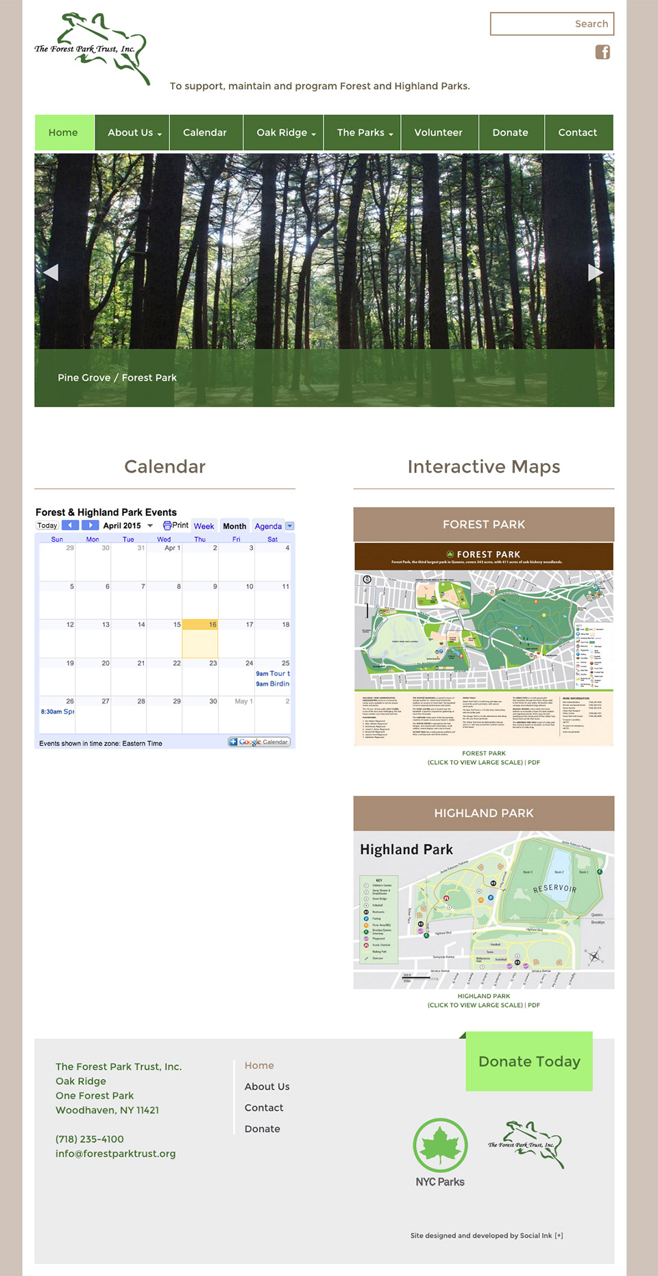 The Forest Park Trust: Forest Park Trust Homepage