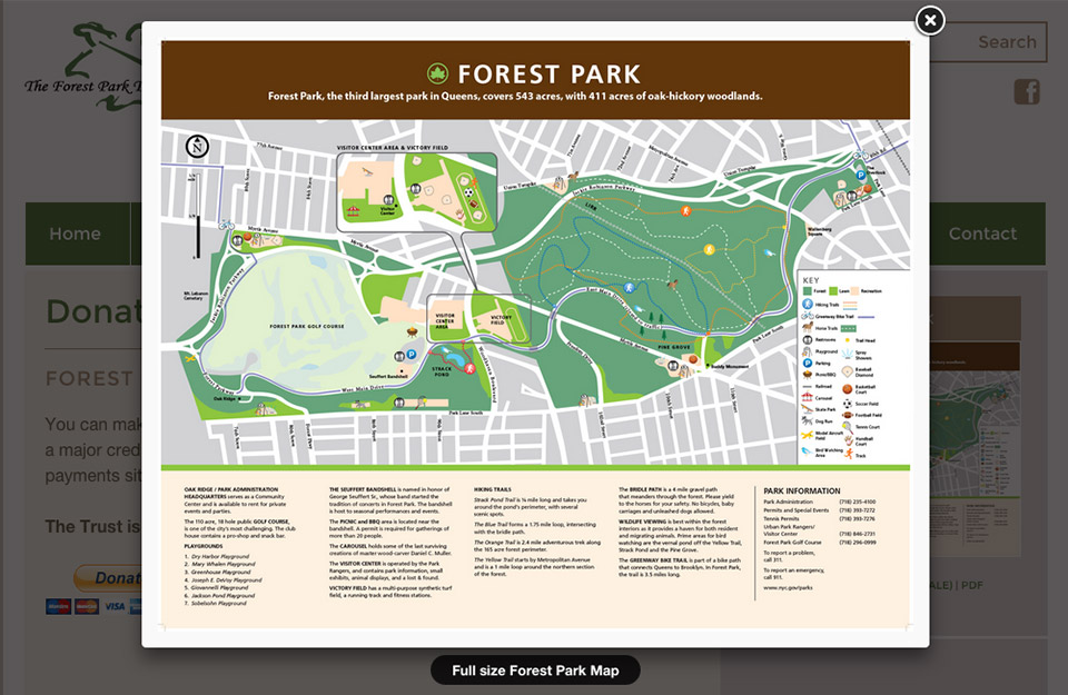 The Forest Park Trust: Forest Park Interacive Map