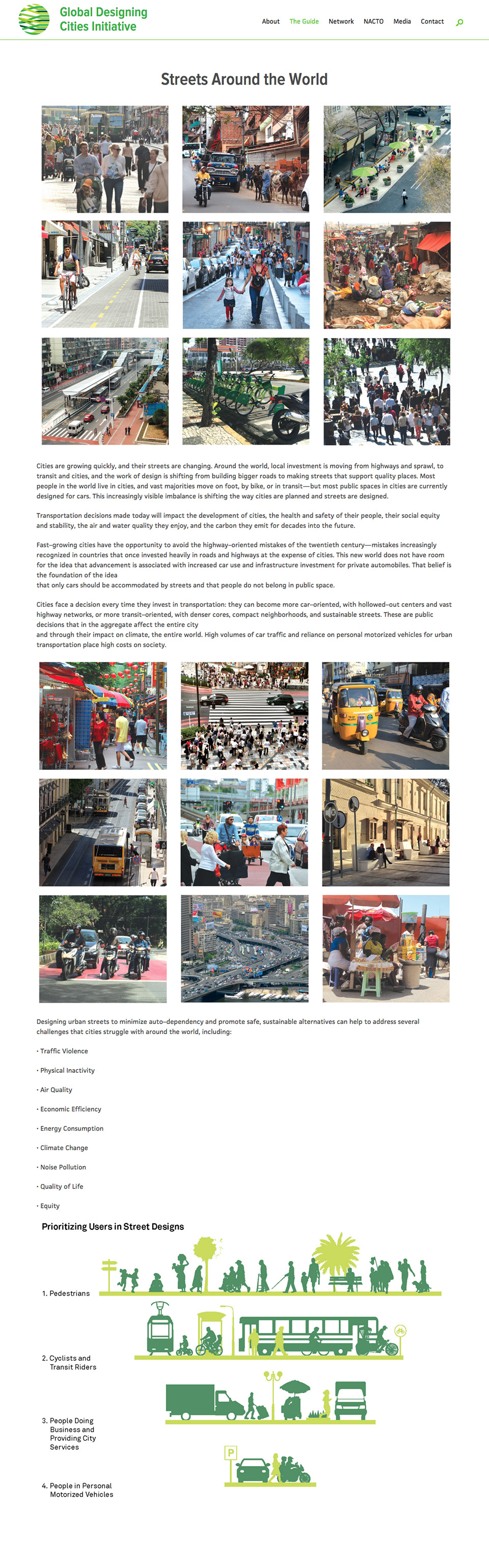 Global Designing Cities Initiative: Featured Guide Page