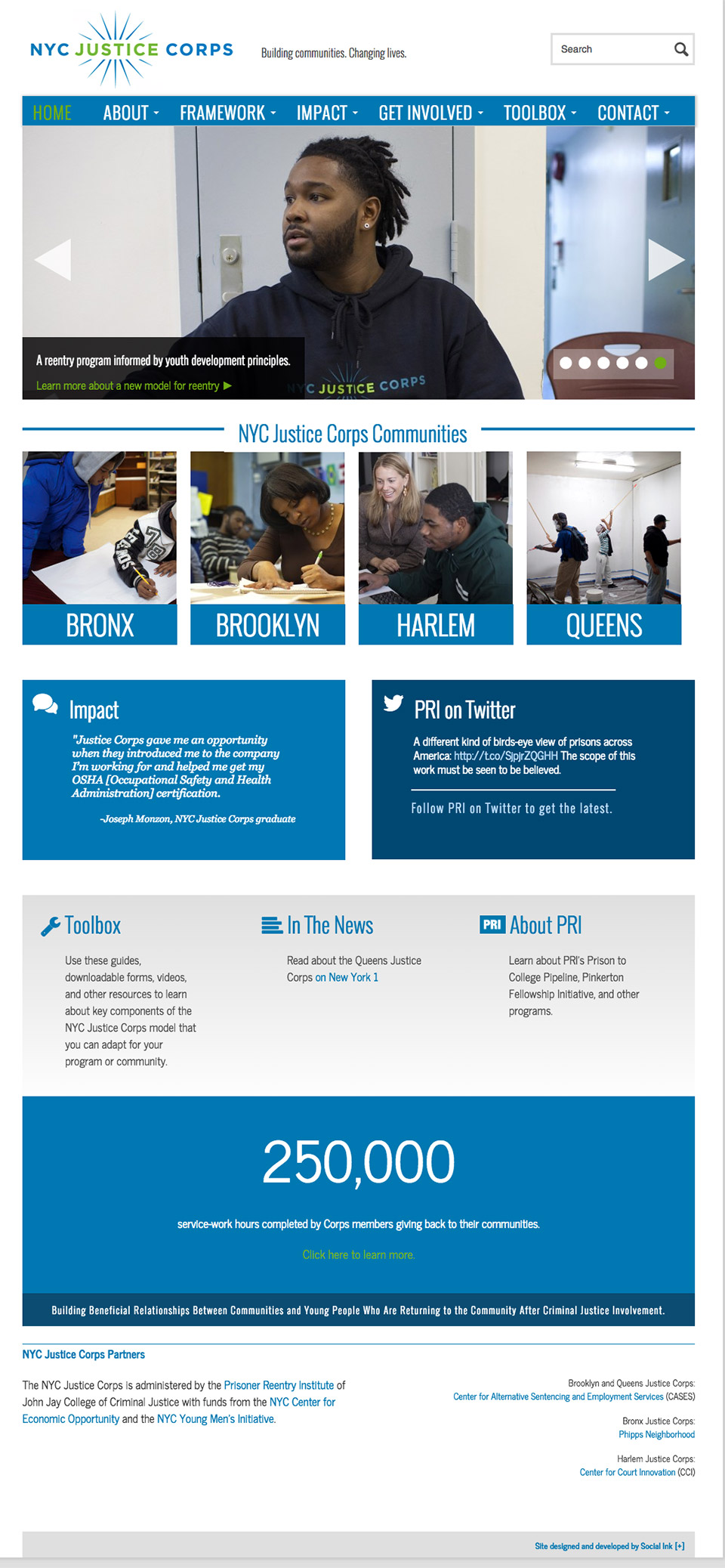 NYC Justice Corps: NYC Justice Corps Program Overview Page