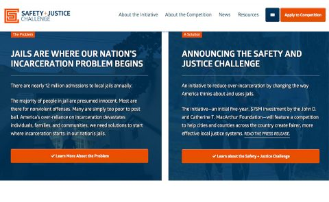 Safety + Justice Challenge Home Page