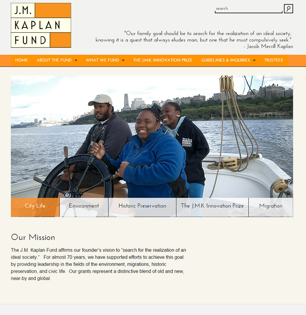J.M. Kaplan Fund: JM Kaplan Fund Homepage