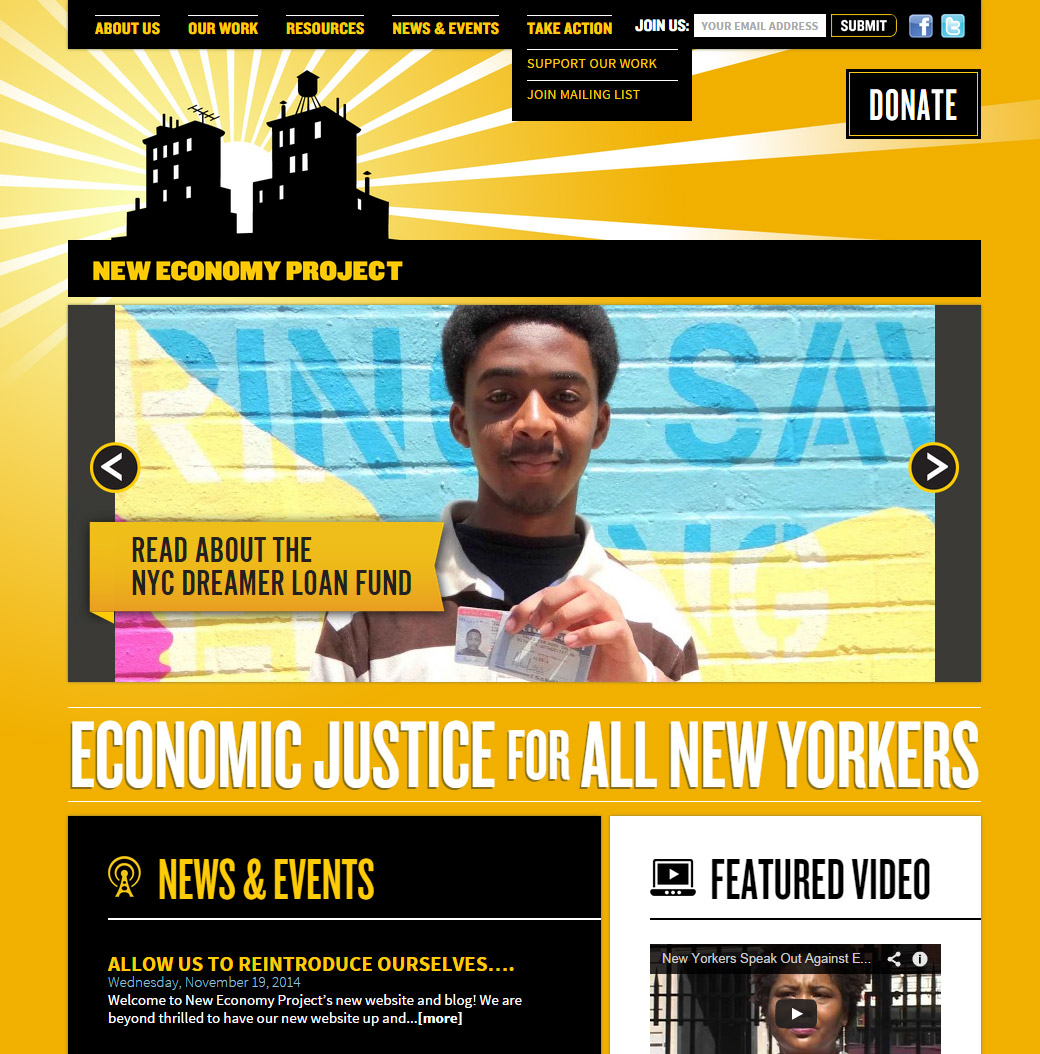 New Economy Project Homepage