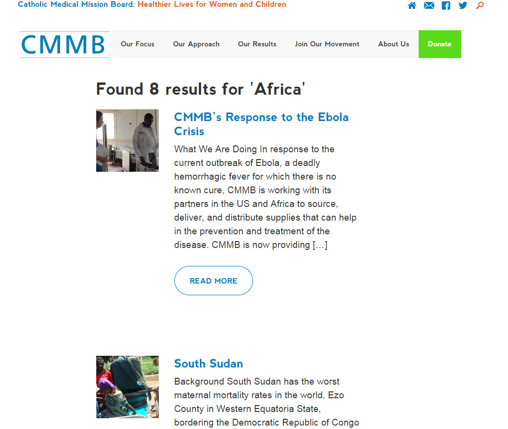 You searched for Africa Catholic Medical Mission Board