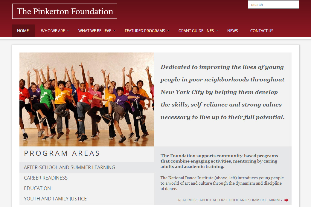 The Pinkerton Foundation: Pinkerton Foundation Homepage