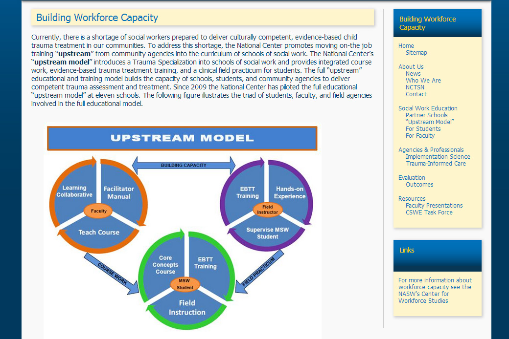 National Center for Social Work Trauma Education and Workforce Development Mainstream Model