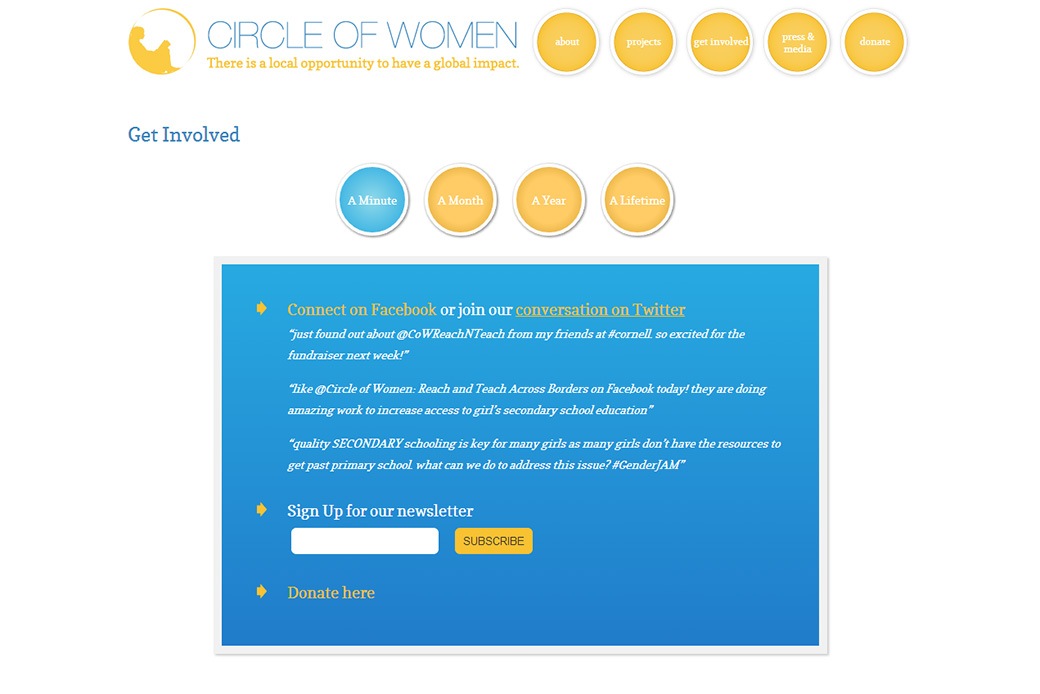 Circle of Women: Circle of Women - Get Involved