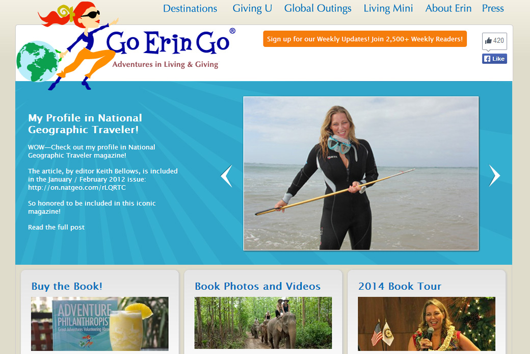Go Erin Go Home Page, website by Social Ink