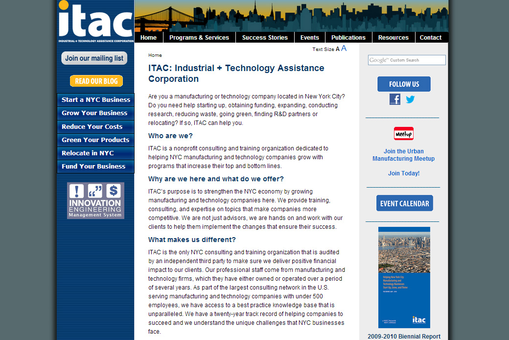 ITAC Food Manufacturer's Toolkit: ITAC Homepage