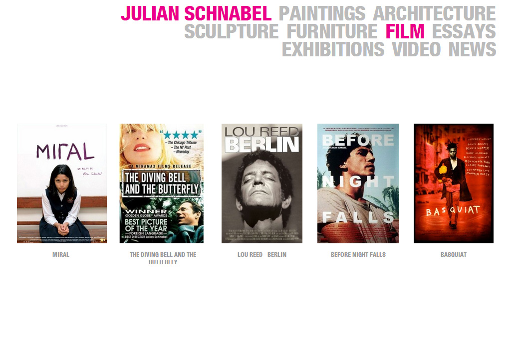 Julian Schnabel: Julian Schnabel Film