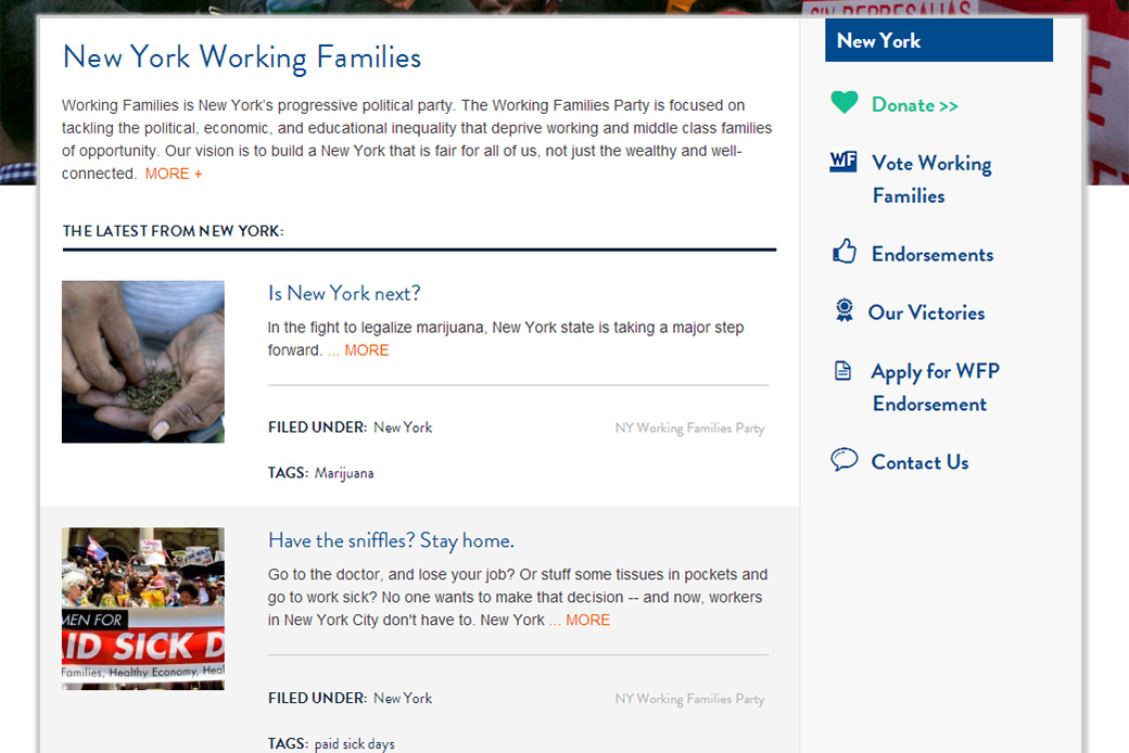 Working Families: Working Families: New York