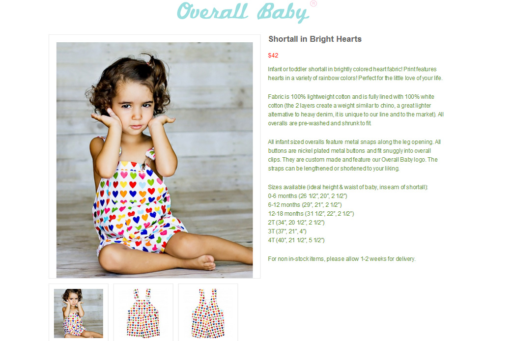 Overall Baby One Product