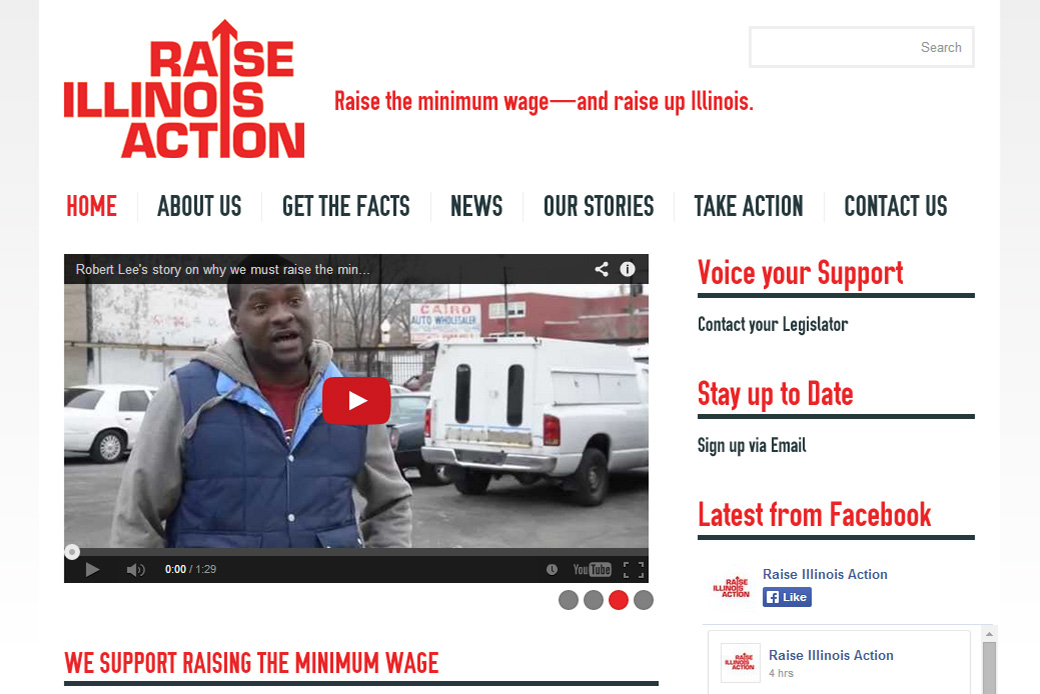 Raise Illinois Action: Raise Illinois Action Homepage by Social Ink