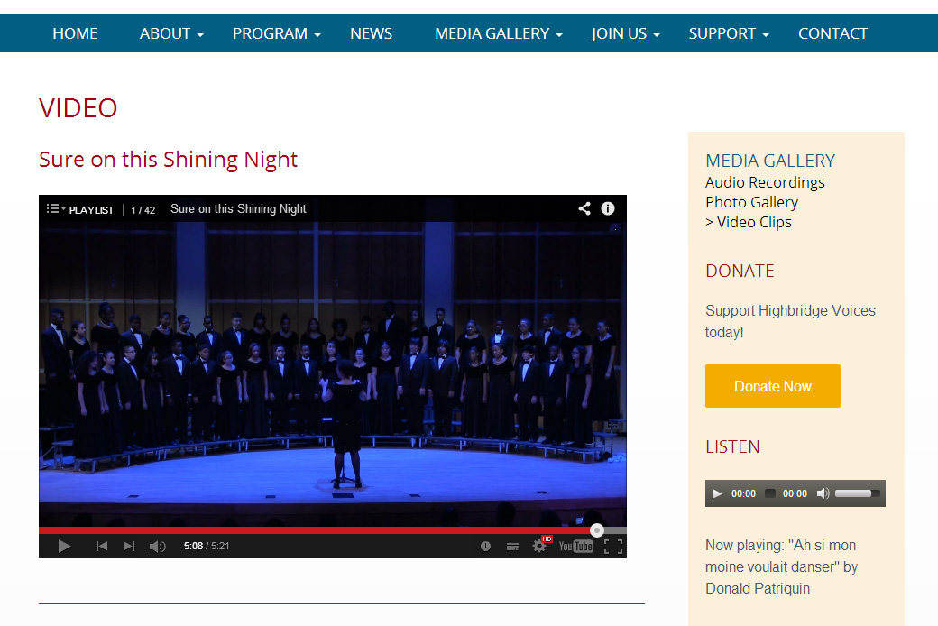 Highbridge Voices: Highbridge Voices - video