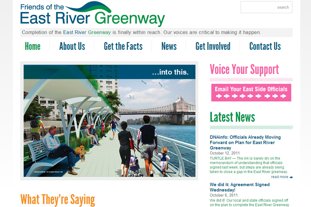 East River Greenway: Welcome to Friends of the East River Greenway   New York City Homepage