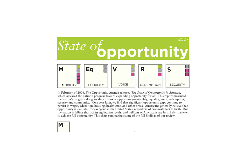 Opportunity Agenda Annual Report: The State of Opportunity