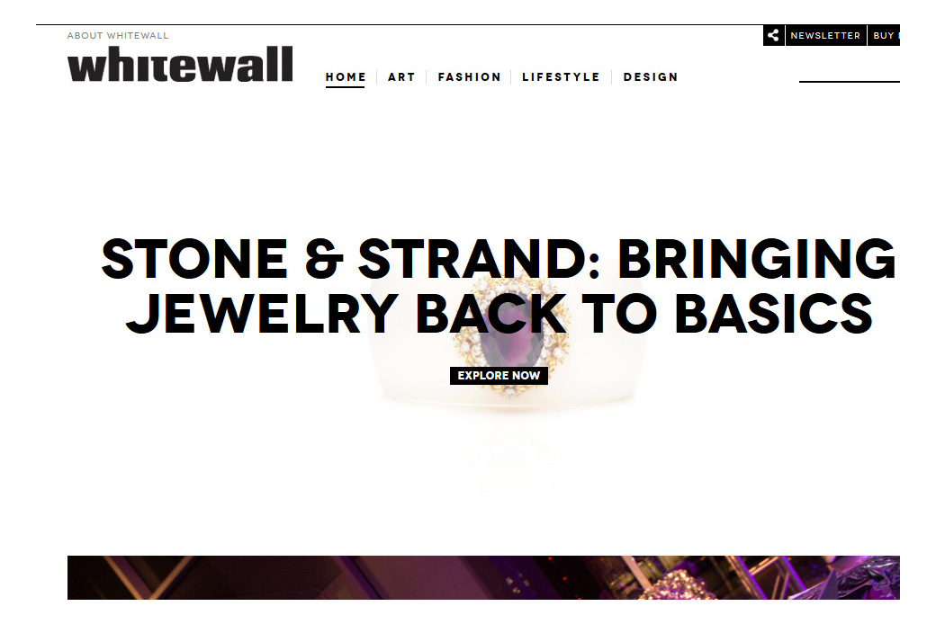Whitewall Magazine: Whitewall Magazine Homepage