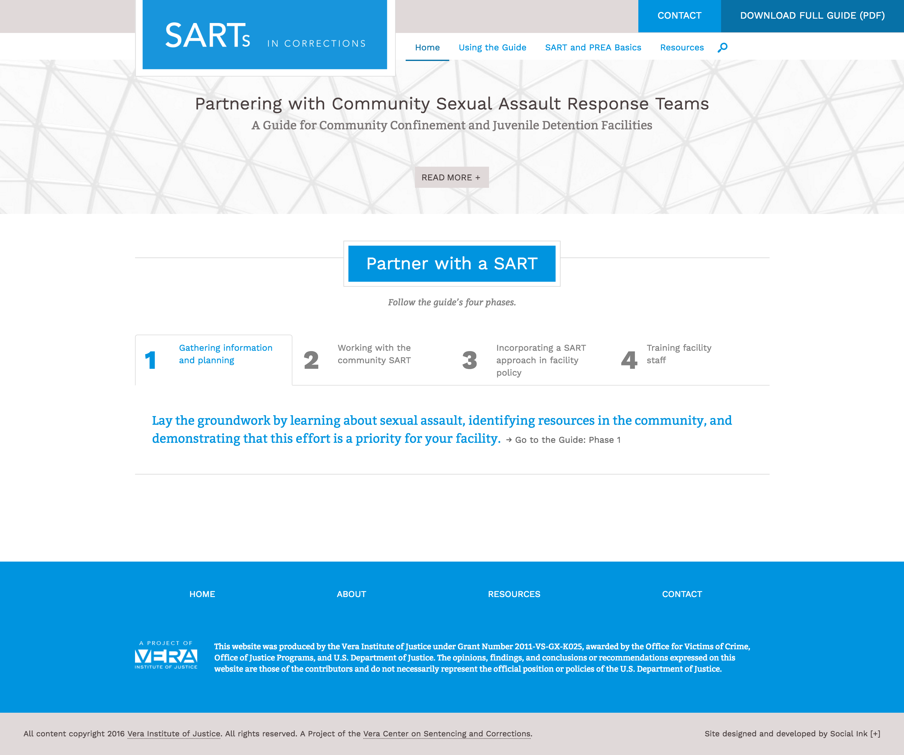 Vera Institute of Justice--SARTs in Corrections: SARTS Homepage