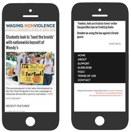 Waging Nonviolence: Mobile Responsive Design (RWD)