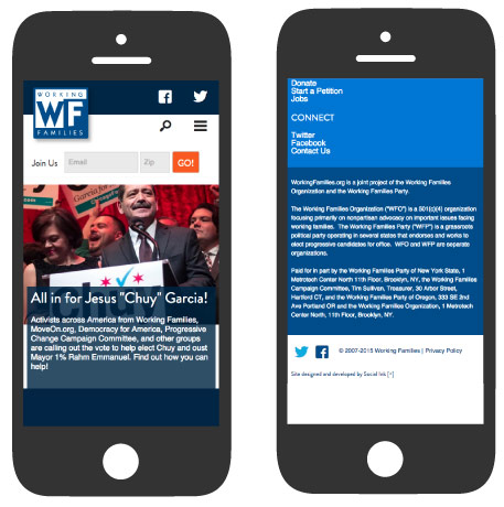 Working Families: Mobile Responsive Design (RWD)