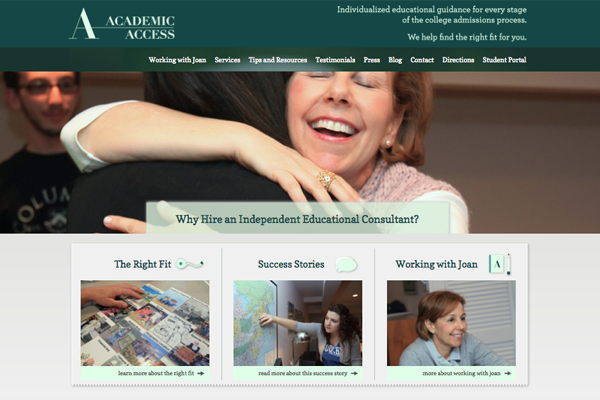 Make the Grade: Identity & Site Relaunch for Academic Access